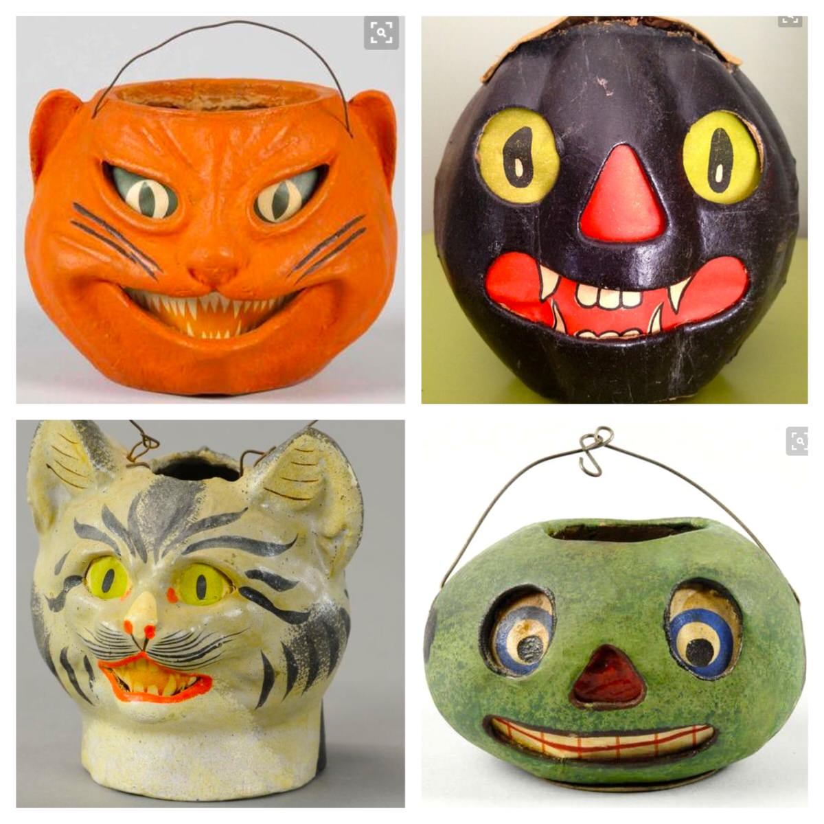 Vintage halloween decorations - Vintage German Halloween Lanterns