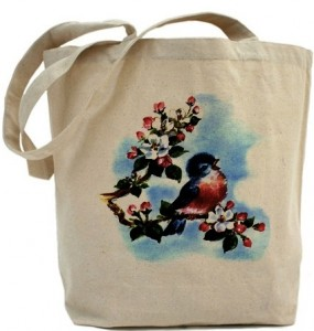 Vintage Bluebird Tote Bag