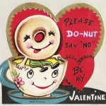 Anthropomorphic Donut valentine