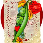 Anthropomorphic Pea Pods valentine