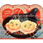 Anthropomorphic eggs valentine