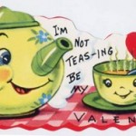 Anthropomorphic tea pot valentine