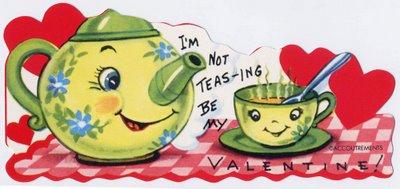 Anthropomorphic Tea Pot Valentine