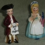 Vintage Enesco Betsy Ross Salt and Pepper Shakers