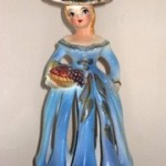 Vintage Napkin Doll Candle Holder