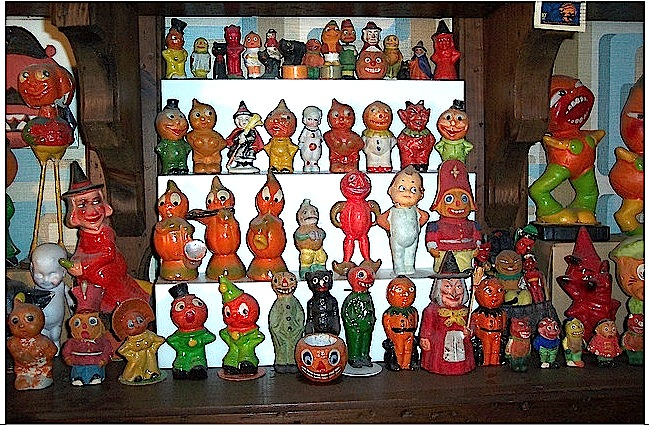 Vintage halloween candy containers