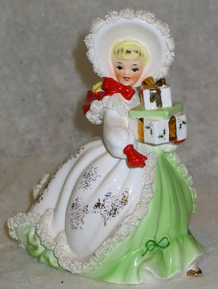 My favorite things vintage christmas figurines pinup