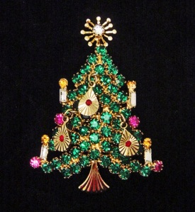 for some collecting christmas tree brooches and pins is a year round activity many collect vintage christmas tree pins from the 1940s 1970s - Year Round Christmas Tree