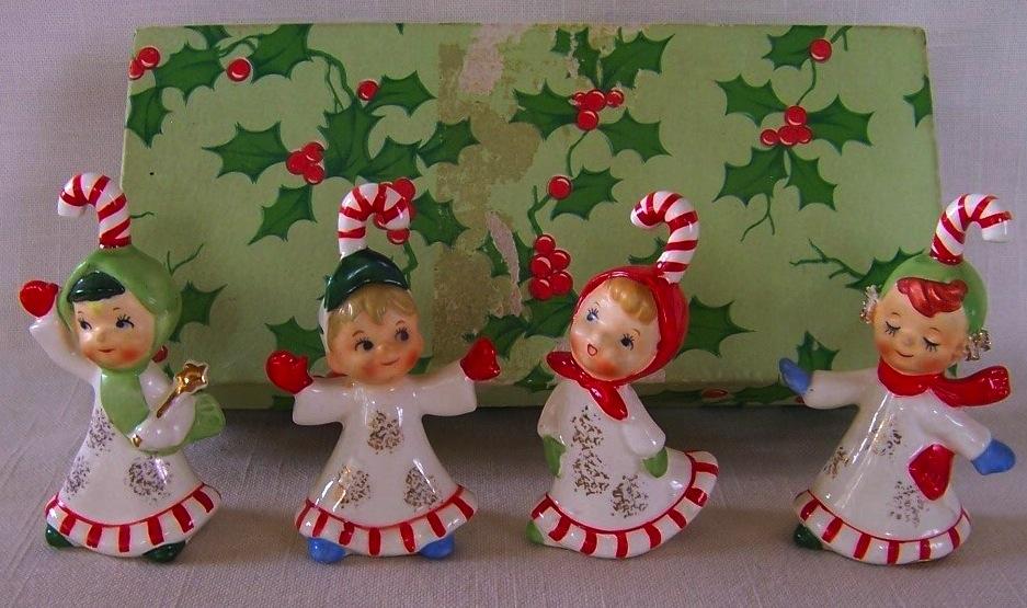 Napco christmas pinup antiques fashion collectibles