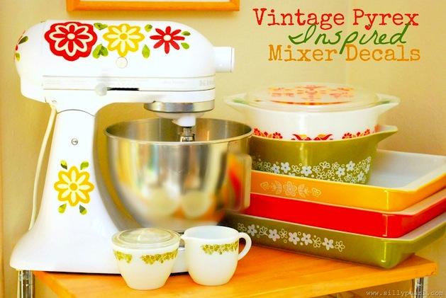 Diy Kitchenaid Mixer Decals ~ Vintage pyrex pinup antiques fashion collectibles