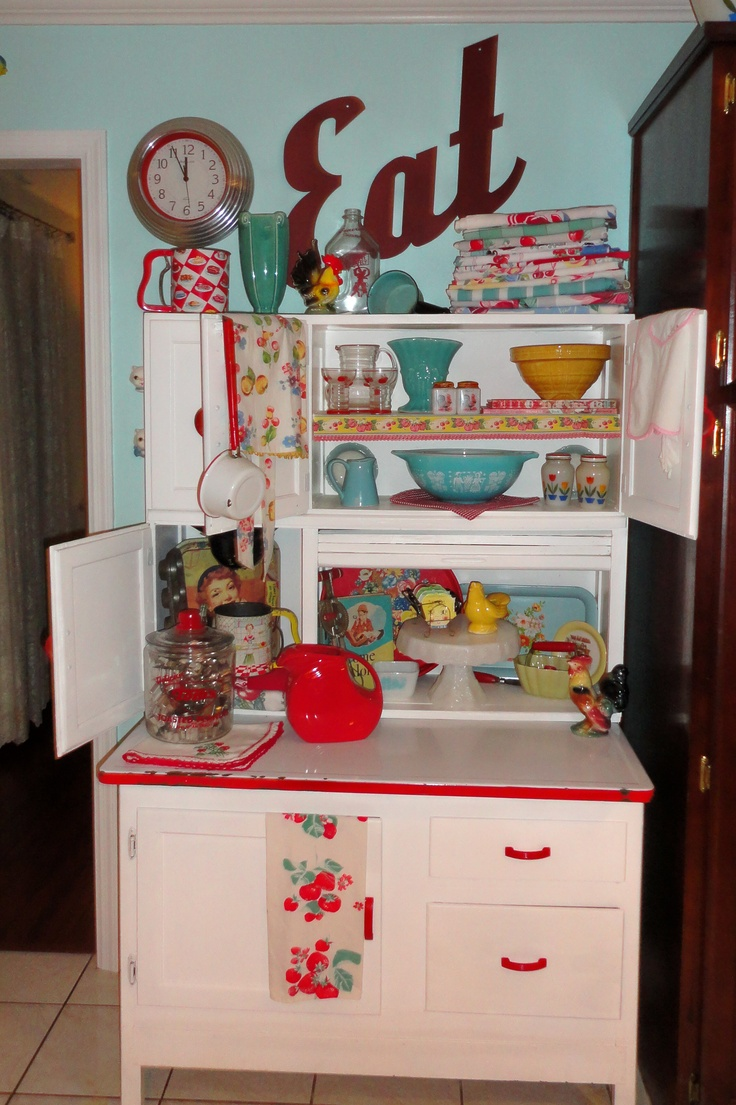 Vintage Hoosier Cabinets | Pinup & Curvy Girl Style with a ...
