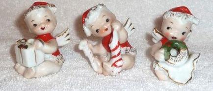 Vintage Lefton Christmas Santa Babys