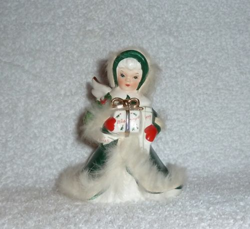 Vintage Napco Christmas Angel with Feathers
