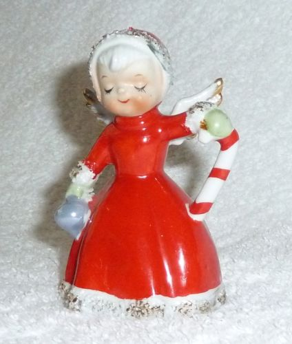 Vintage Norcrest Christmas Angel Bell with Candy Cane