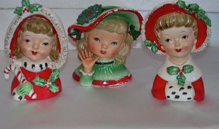 trio of headvases