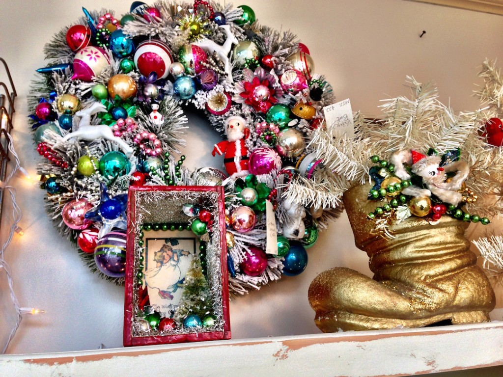 Vintage Christmas Tinsel Wreath