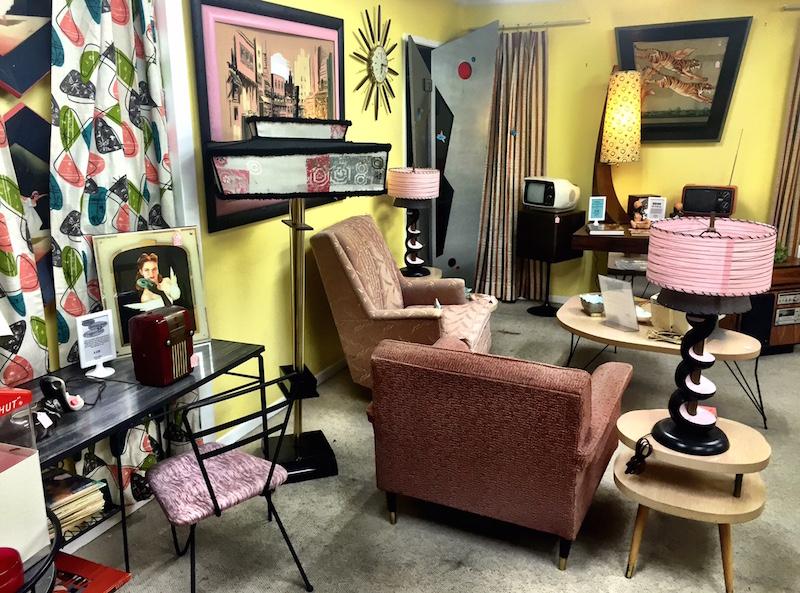 Mid-Century Modern Pink Room