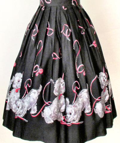 Novelty Print Poodle Skirt