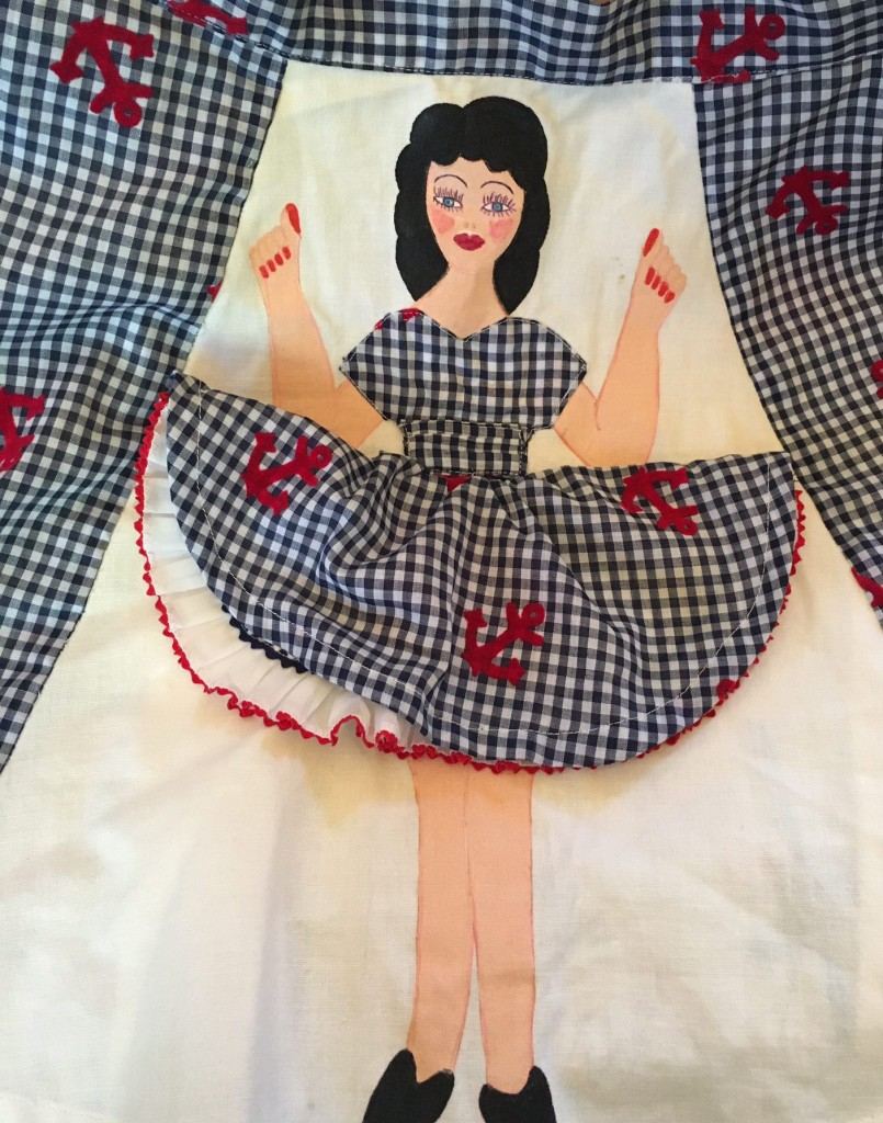 Vintage Sailor Pinup Girl Apron