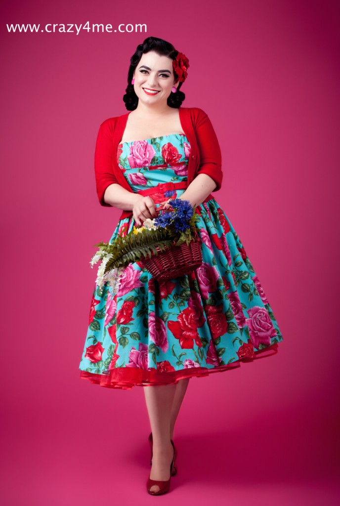 Yasmina Greco is Crazy4Me PinupGirl In Bernie Dexter Dress