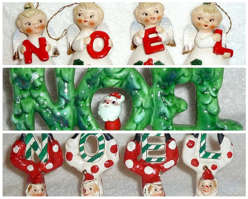 Vintage Christmas Noel Set