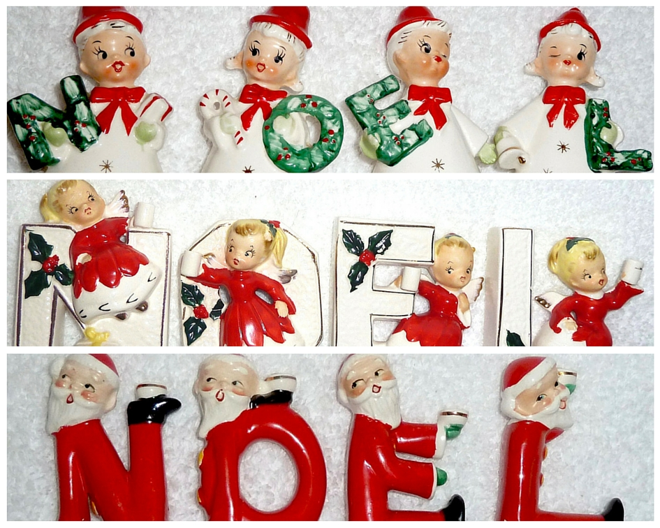 Vintage Lefton Christmas Noel Set