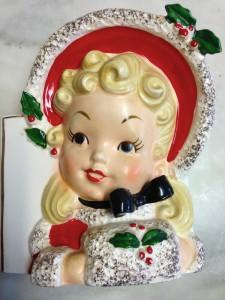 Vintage Napco Christmas Headvase Planter