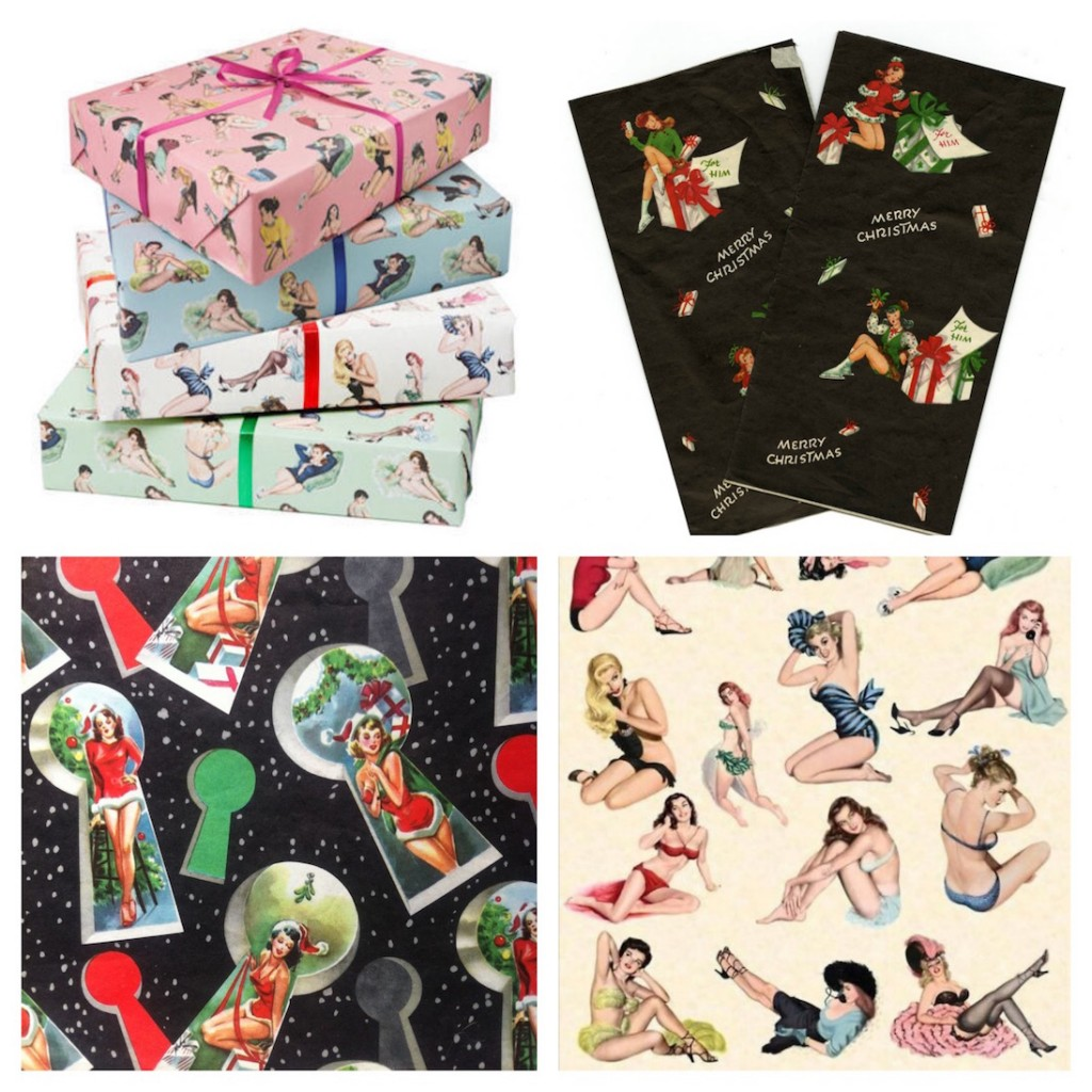 Pinup Girl Wrapping Paper