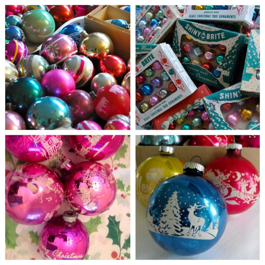Vintage Shinybrite Ornaments