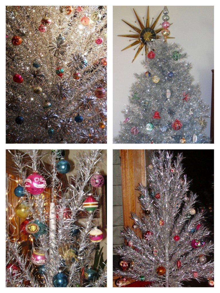 Vintage Tinsel Christmas Trees