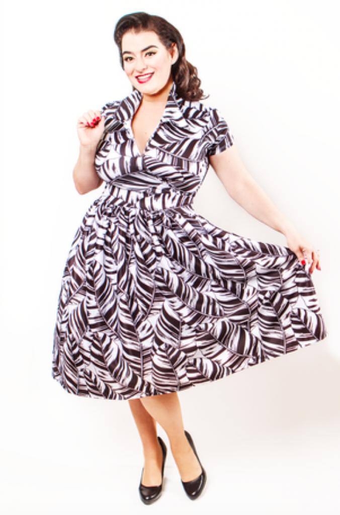 Yasmina Greco Pinup Koco Blaq- Blaq Tea Leaf Full Skirt