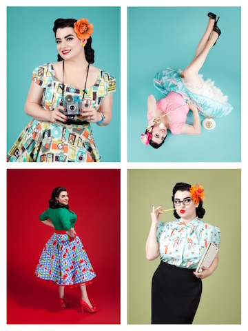 Yasmina Greco Pinup Girl Poses