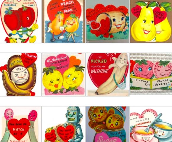 Vintage Anthropomorphic Mi-Century Valentine Cards