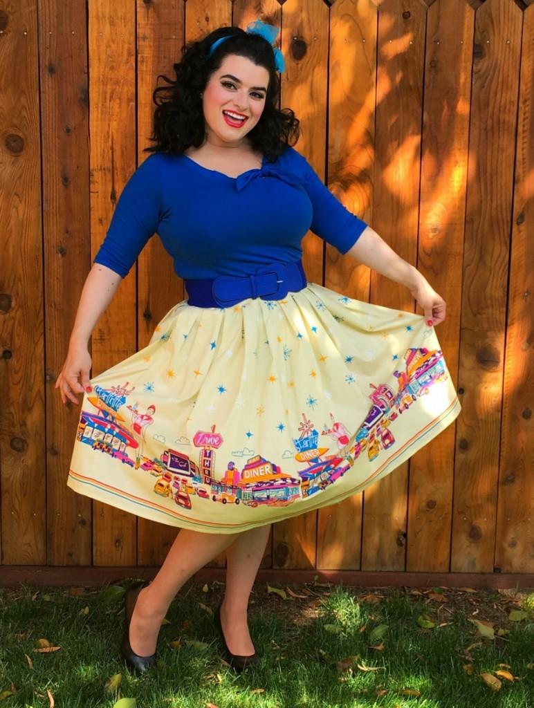 Yasmina Greco Pinup Banned Apparel Diner skirt