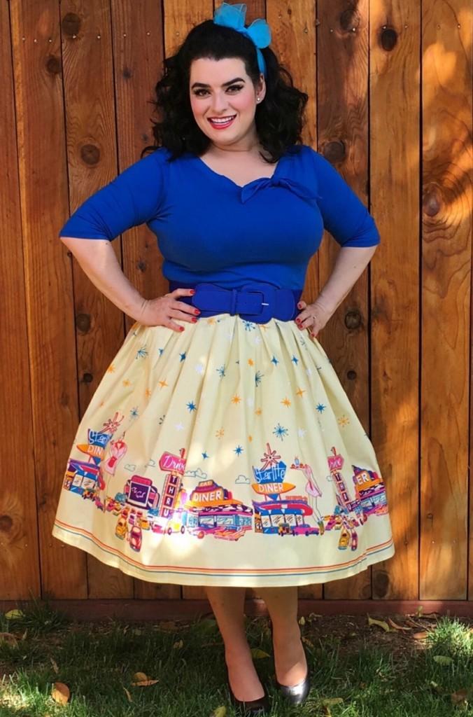 Yasmina Greco Pinup Banned Apparel 50s Diner skirt