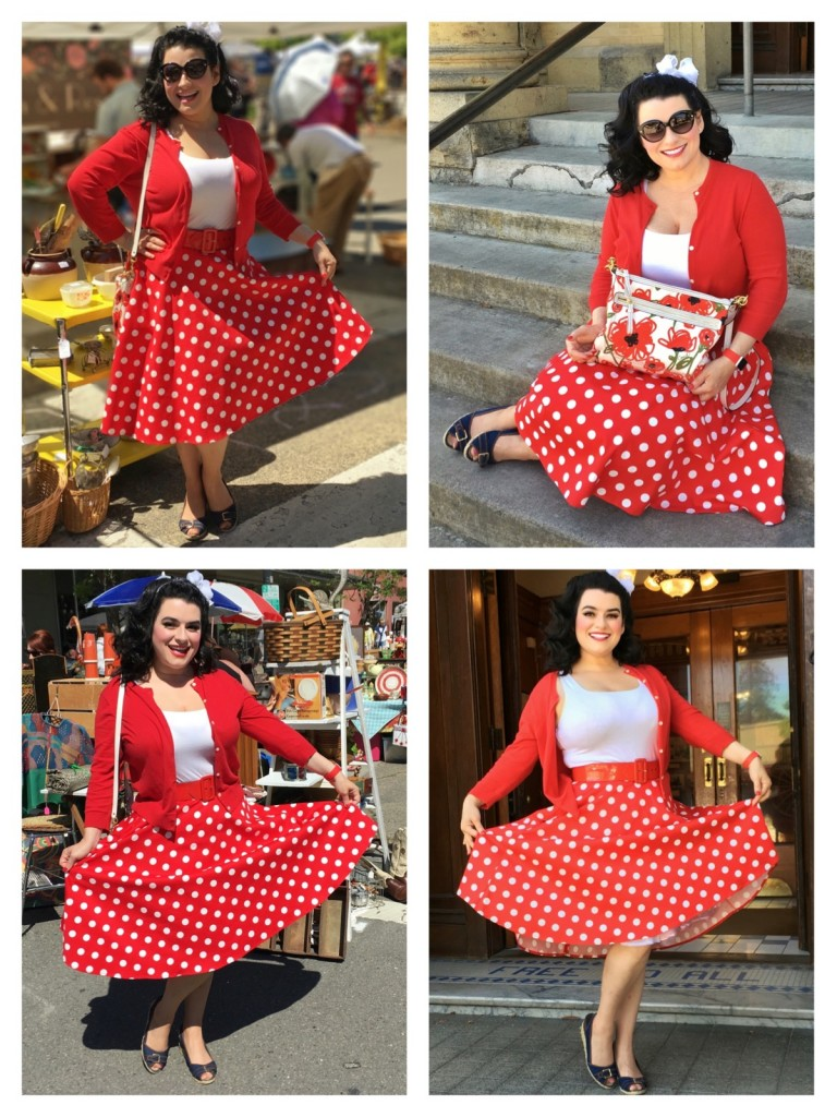 Yasmina Greco Pinup Red Rockabilly Polka Dot Inked Boutique