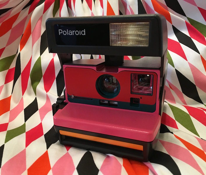 Pinup Rockabilly Vintage Camera Polaroid