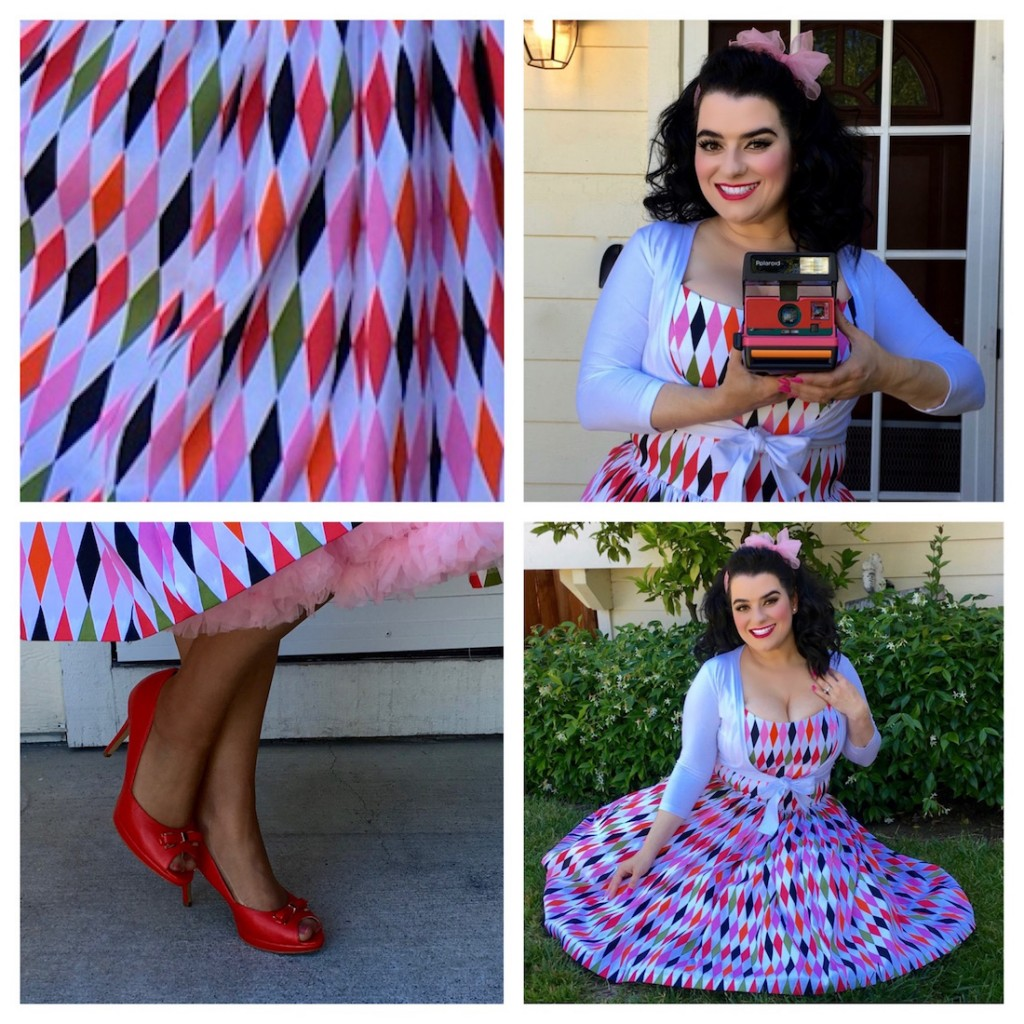 White Sateen Harlequin Pinup Couture Pinup Girl Yasmina Greco Pinupgirl