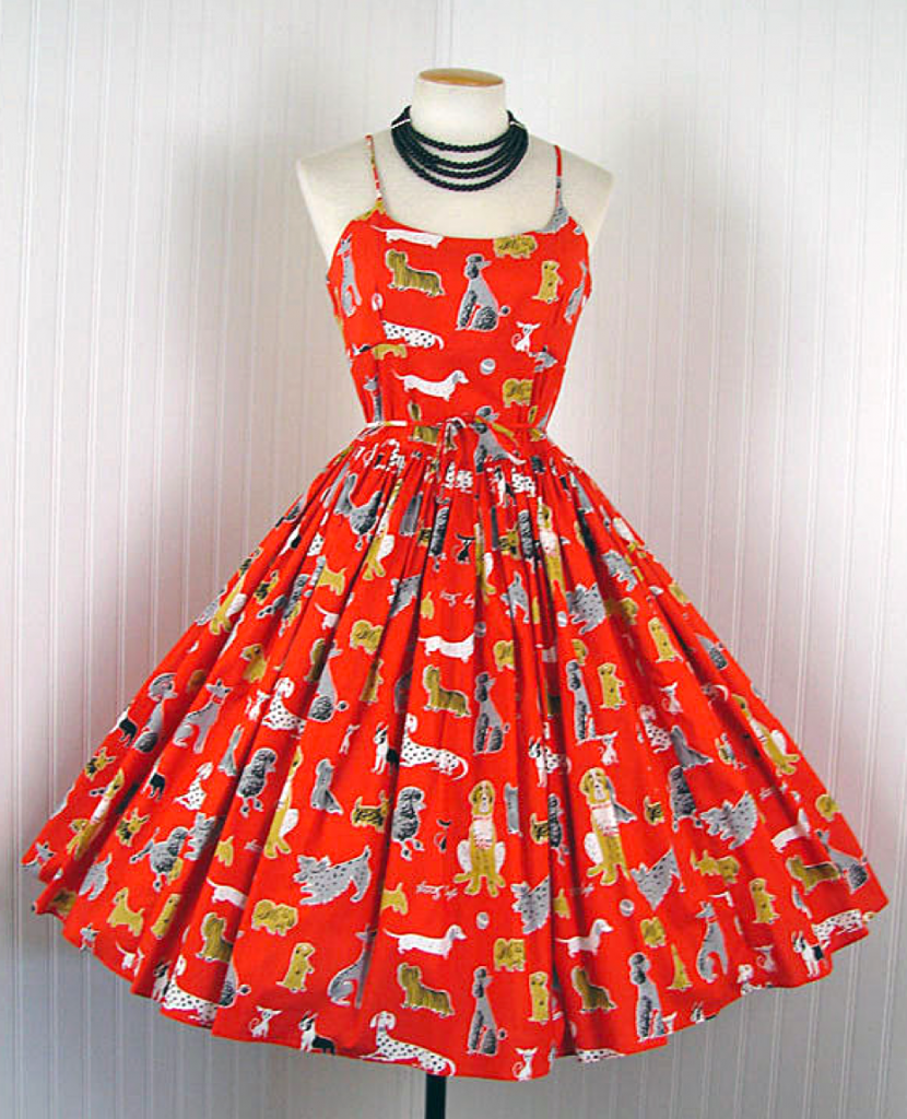Bernie Dexter Red Dog Pinup Dress