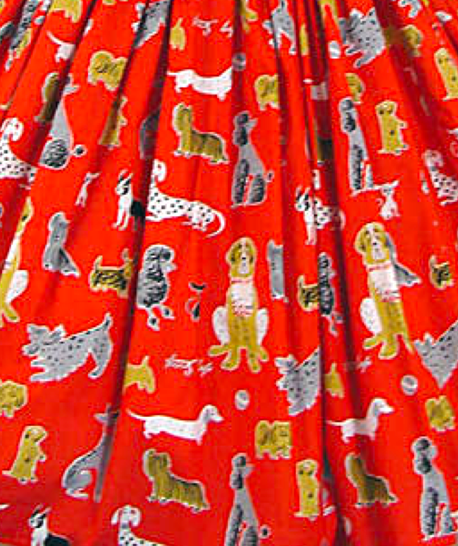 Bernie Dexter Red Dog Pinup Dress