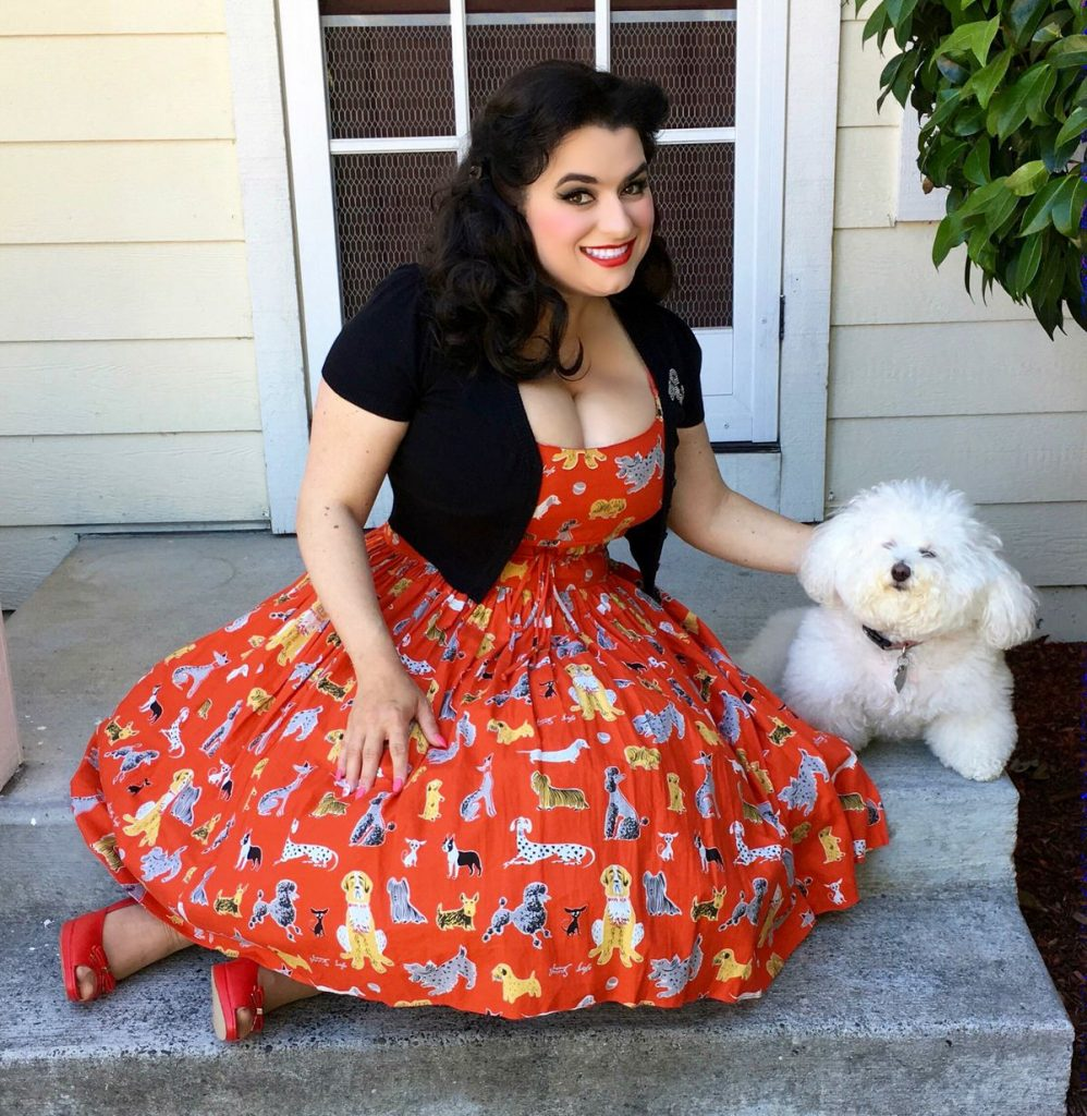 Yasmina Greco - Bernie Dexter Chelsea Red Dog Pinup Dress