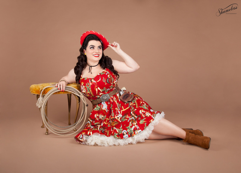 Yasmina Greco - Ride 'em Cowboy - Pinup Cowgirl Dress by Pigtails and Pirates