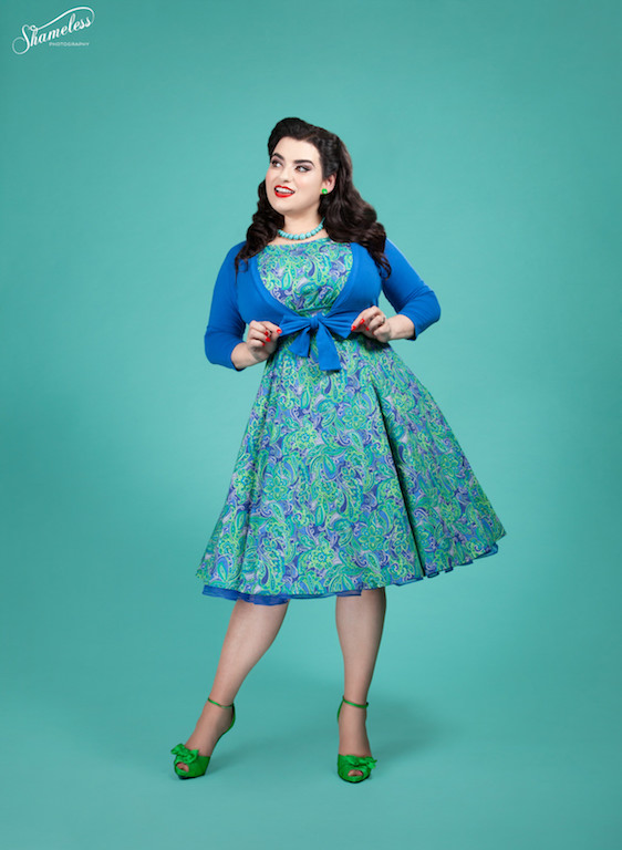 Yasmina Greco in Vintage Pinup Dress