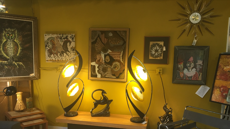 Mid-Century Modern Moss Lamps