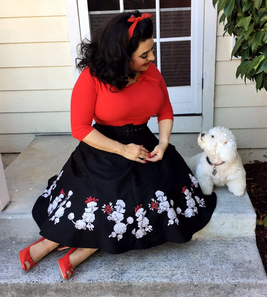 Yasmina Greco with Luna Pinup Poodle Skirt