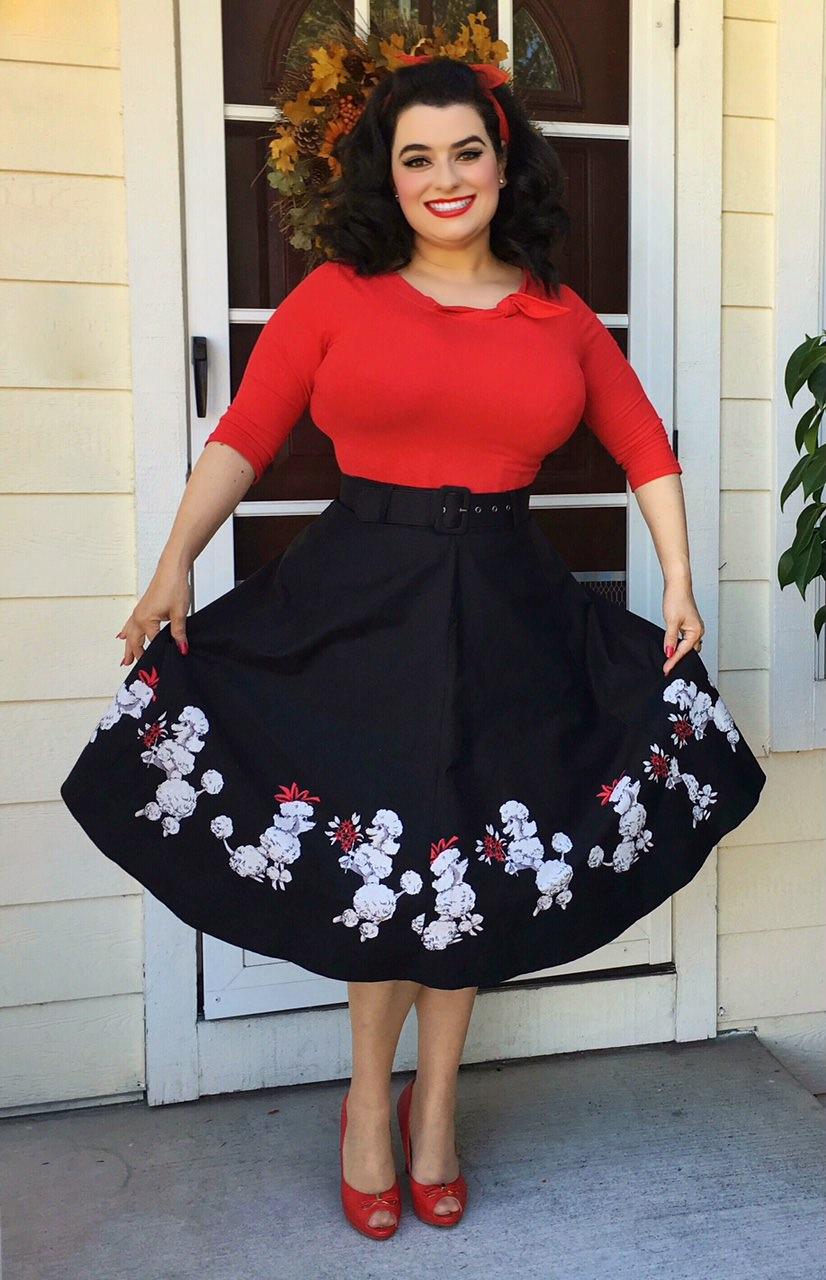Yasmina Greco Pinup Poodle Skirt