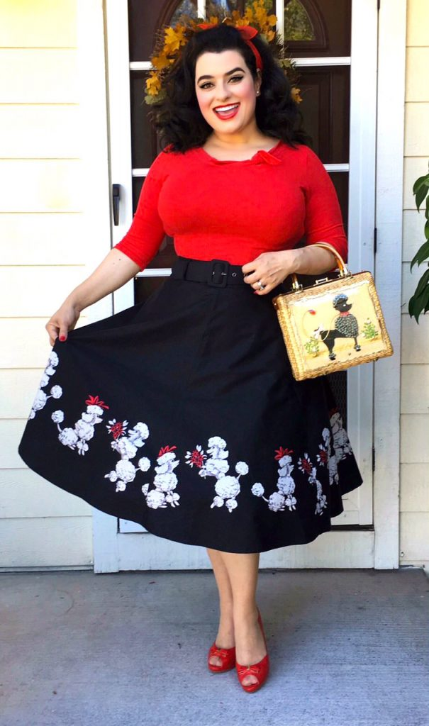 Yasmina Greco - Pinup Poodle Skirt and Purse
