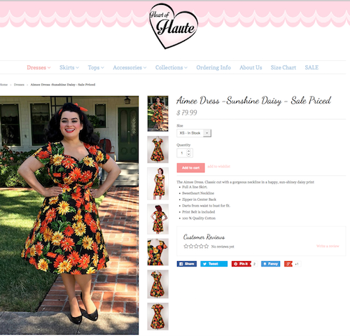 Yasmina Greco - Heart of Haute Pinup Dress