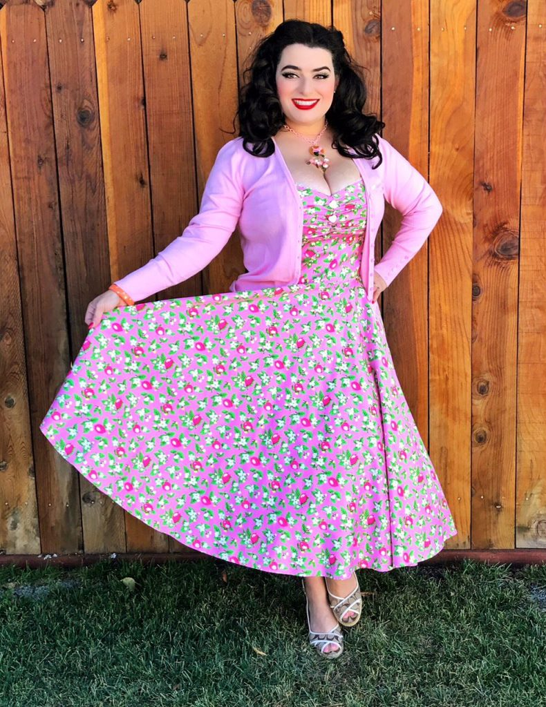 Yasmina Greco - Pinup Girl Clothing Nancy Dress Pink Lemonade