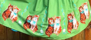 1950s Kitty Cat Boarder Print from Dangerfield Clothing